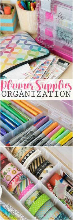 Planner Supplies Organization with Creative Options (free printable included, too!) #storagewithstyle #ad #Pmedia