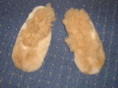 Light brown Slippers, bed shoes, made of pure Babyalpaca fur