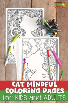 We LOVE mindful coloing, and we have some amazing adults and kids mindful coloring, including this gorgeous cat coloring sheets. Go check them, and our other adult and kids coloring sheets out. There are all FREE! Skull Coloring Pages, Colouring Pages, Free Coloring, Adult Coloring, Coloring Books, Kids Coloring, Color Activities, Activities For Kids, Coloring Book Online