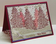Create with Connie & Mary Color Challenge using Stampin' Up! Evergreen stamp set by Debbie Henderson, Debbie's Designs.