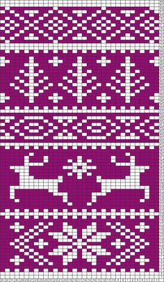 Tricksy Knitter Charts: Fair Isle reindeer pattern (63801) (70587) (74461) by MarySy