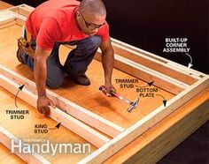 Fool-Proof Wall Framing Tips for New Construction Framing Construction, New Home Construction, Construction Website, Barn House Plans, Shed Plans, Build Your Own Shed, Shed Kits, Building A Shed, Building Ideas