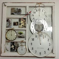 My clock window. I intend to add a shelf at the bottom to display some of my antique clocks.