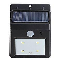 solar light agptek led outdoor solar powerd light lamp wireless waterproof security motion sensor light for patio deck yard wall with