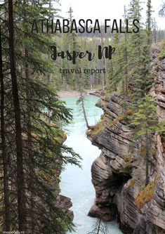 Athabasca Falls and River, Jasper NP, Canada - travel report by Map of Joy, lake, park, world
