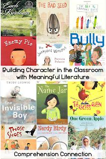 This post includes a large collection of character building text recommendations as well as lesson freebies for many of them. Read to learn how each can be used.