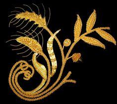 Goldwork sampler designed and stitched by Bella Lane