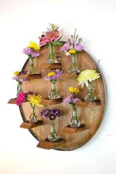 Wine Barrel Head Candle / Flower holder by winecountrycraftsman, $150.00