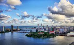 Vista aérea do Recife Antigo, Pernambuco