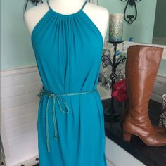 """Selling this """"Beautiful teal spring short dress."""" in my Poshmark closet! My username is: tberes103. #shopmycloset #poshmark #fashion #shopping #style #forsale #Dresses & Skirts"""