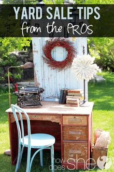 """This is not for a yard sale. Maybe a Tag Sale. But somehow my """"stuff"""" wouldn't look as good in the yard. Upcycled Crafts, Diy Crafts, Garage Sale Tips, Rummage Sale, Yard Sale Finds, Fluorescent Colors, Tips & Tricks, Trash To Treasure, Saving Ideas"""