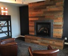 @stikwooddesign Reclaimed Sierra Gold fireplace!