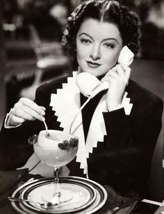 """Adrian Costume Designer   Myrna Loy in detailed tailored suit, """"Double Wedding"""" 1937"""