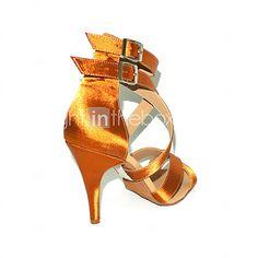 Aangepaste Vrouwen satijn bovenste enkelband latin / ballroom dans schoenen (meer kleuren) | LightInTheBox