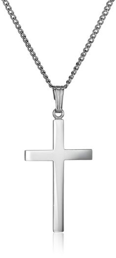 Sterling Silver Polished Cross Pendant Necklace ** Check this awesome product by going to the link at the image.