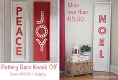 DIY Noel Christmas Sign: Pottery Barn Knock off - Christmas Projects  Crafts by Courtney
