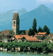 Not too far from Lucerne was this wonderful little city called Interlaken. It too was gorgeous and catered pretty much to skiers and tourists. Vacation Places, Vacation Spots, Places To Travel, Oh The Places You'll Go, Places Ive Been, Switzerland Tourism, Switzerland Interlaken, European Honeymoons, Holiday Destinations