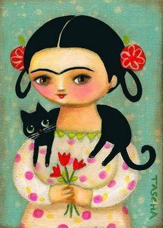 var. 7 - Frida Kahlo e il suo gatto, Tascha Parkinson