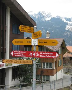 Where do you want to go today? Wengen Switzerland, Places Ive Been, Places To Go, Grindelwald, World Economic Forum, Traffic Light, Swiss Alps, Train Travel, Location