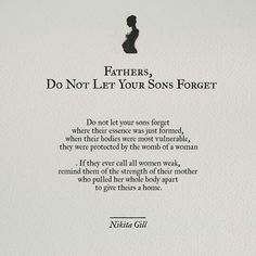 Fathers, don't let your sons forget...