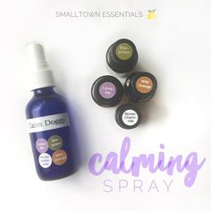 Calming Spray for Dogs - using dōTERRA essential oils.  Click on the link to view on IG // @smalltownessentials