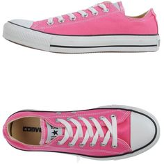 Converse All Star Sneakers (160 BRL) ❤ liked on Polyvore featuring shoes, sneakers, converse, pink, pink flat shoes, round cap, round toe shoes, converse footwear and flat shoes