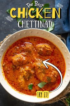 Spicy, full of flavors and hearty, Chicken Chettinad is a delicious chicken curry from the Chettinad region of South India. It can be made dry or with gravy. Snack Recipes, Cooking Recipes, Indian Snacks, South India, Yum Yum Chicken, Gravy, Spicy, Curry, Canning