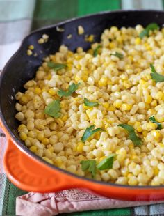 This will be your new go-to fresh corn recipe. You'll love the creaminess of this flavorful corn and will get showered with compliments by everyone who eats it. Fresh Corn Recipes, Side Dish Recipes, Vegetable Recipes, Healthy Dinner Recipes, Vegetarian Recipes, Cooking Recipes, Delicious Recipes, Vegetable Side Dishes, Food Dishes