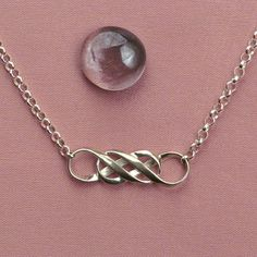 Mobius Sterling Silver Double Infinity Rolo by MagicMobius on Etsy, $68.00