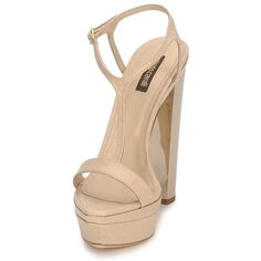 c0f526d261923 Zapatos Mujer Sandalias Roberto Cavalli RDS735 Beige   Nude