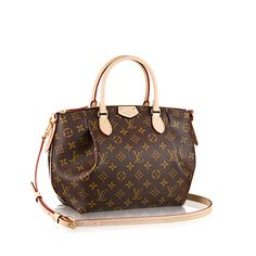 Discover Louis Vuitton Turenne PM The functional has rarely been as fashionable! With its rounded handles and front pleats, the Turenne PM in Monogram coated canvas is every woman's style hero. The adjustable strap means you can switch to cross-shoulder carry to mix it up.