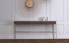Table d'appoint / contemporaine / en noyer / en laiton BOUVET by Sérgio Costa TCC WHITESTONE _ MAAMI HOME _ WHITESTONE