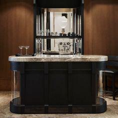 News and Trends from Best Interior Designers Arround the World Lounge Design, Bar Lounge, Coin Bar, Bar Counter Design, Modern Home Bar, Christian Liaigre, Home Bar Designs, Mini Bars, Top Interior Designers
