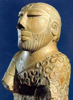 Sculpture of a Priest King, ca. 2500 BC, from the Pakistan National Museum, Karachi