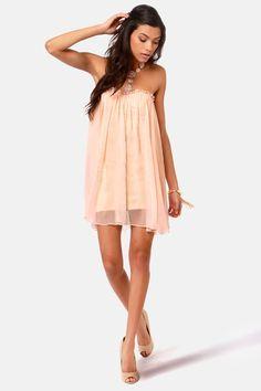 Blaque Label Dress - Strapless Dress - Peach Dress - $139.00
