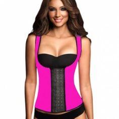 719af8d56407e Ann Chery Women s 3 Hooks Body Shaper Latex Sport Vest Shapewear