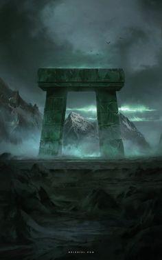 http://www.deviantart.com/art/Necromancer-s-Gate-633439196