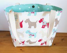 Fabric Shoulder Handbag Scottie Dog Tote Dog by HectorsHouseCraft Dog Lover Gifts, Dog Lovers, Shoulder Handbags, Shoulder Bag, College Bags, Craft Bags, Large Purses, Canvas Crafts, Scottie Dog