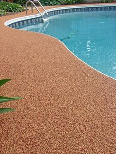 Pebble Epoxy Pool Deck For The Home Pinterest Pools
