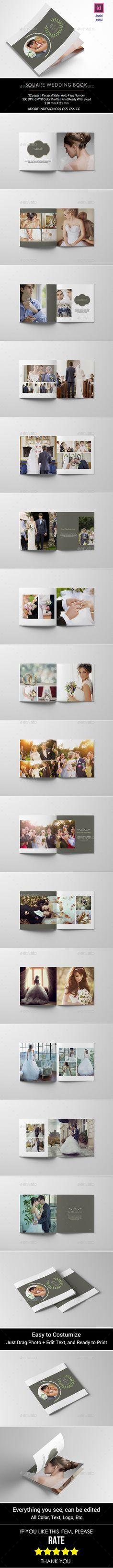 Square Wedding Photo Book Template