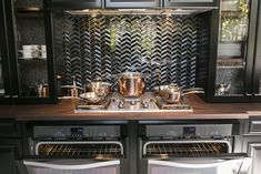 S.F. designer cooks up the ultimate kitchen Beautiful Kitchens, Beautiful Homes, House Beautiful, Beautiful Places, Herringbone Tile Pattern, Crystal Light Fixture, Beige Walls, Large Homes, Home Kitchens