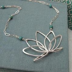 Wire wrapped flower pendant necklace. Craft ideas from LC.Pandahall.com | Necklace 2 | Pinterest by Jersica