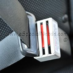 The Seat Belt Buckle Guard is a seat belt lock designed to prevent children with emotional and cognitive disabilities from releasing the seat belt while the car is in motion.