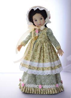 "SOLD ""Jane Austen Novel""Regency Dress,Outfit,Clothes for 13""Effner Little Darling #ClothingAccessories"