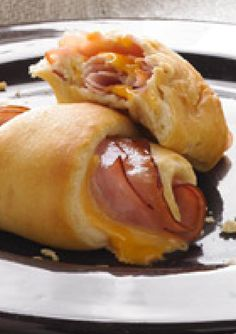Hot Ham and Cheese Roll-Ups — Soft, warm and flavorful, these roll-ups are simple but delicious. You'll need just 3 ingredients and less than 30 minutes time to make these appetizers.