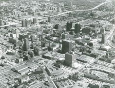 Downtown Syraucuse's Walton Street area from above.