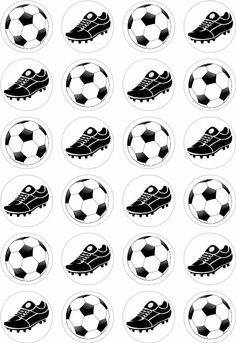 24 Football Boot Cupcake Fairy Cake Toppers Edible Rice Wafer Paper Decorations | Cake Toppers | Decorations & Cake Toppers - Zeppy.io
