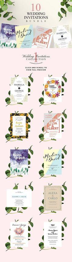 Wedding Invitations Collection 1. Wedding Card Templates