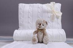 Deka a polštářek pro miminko COP - bílá