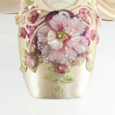 OK, I know it's not a tutu, but I've never seen a prettier embellished pointe shoe!